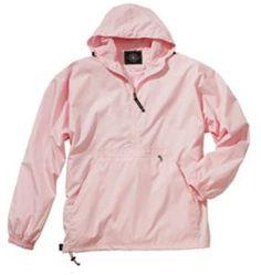 Women's Monogrammed Pullover Wind Breaker/Rain Jacket.