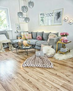32 Lovely Comfy Living Room Ideas That You Like Living Room Grey, Interior Design Living Room, Home And Living, Living Room Designs, Living Room Decor, Terrace Decor, Living Room Inspiration, Home Design, Design Ideas