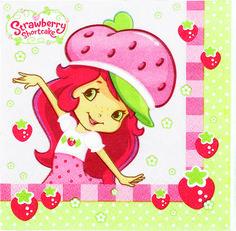Strawberry Shortcake Beverage Napkins 16ct