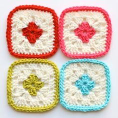 I would love to make a granny square blanket out of these squares from One Sheepish Girl.