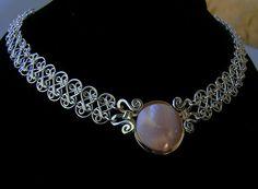 Collar de plata esterlina nácar malla, malla de plata madre de collar de perlas, handcrafted gargantilla de plata filigrana neclace plata malla