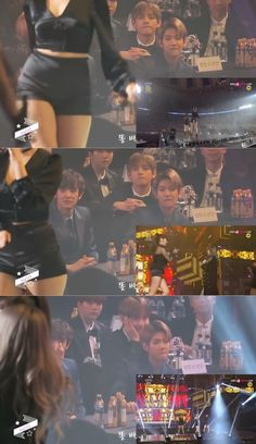 Baekhyun and V's reaction to Mamamoo Bts Memes, Funny Kpop Memes, Taehyung And Baekhyun, Chanyeol, Mamamoo, Bts Imagine, Bts And Exo, Kpop Guys, Album Bts