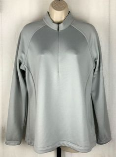 "Adidas Golf Climalite womens L gray long sleeve 1/2 zip pullover athletic jacket <a class=""pintag"" href=""/explore/adidas/"" title=""#adidas explore Pinterest"">#adidas</a> <a class=""pintag searchlink"" data-query=""%23CoatsJackets"" data-type=""hashtag"" href=""/search/?q=%23CoatsJackets&rs=hashtag"" rel=""nofollow"" title=""#CoatsJackets search Pinterest"">#CoatsJackets</a>"