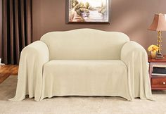 Sure Fit Plush Throw Sofa Skirted Slipcover Sure Fit Slipcovers, Slipcovers For Chairs, Loveseat Covers, Dog Quilts, Warm Bed, Wing Chair, Sofa Throw, Recliner, Sofas