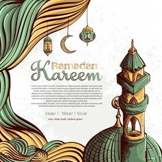 Ramadan kareem with hand drawn islamic illustration ornament on white grunge background , Eid Mubarak Card, Mubarak Ramadan, Ramadan Cards, Ramadan Wishes, Poster Design, Logo Design, App Design, Graphic Design, Eid Al-adha