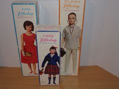 3 VINTAGE REMCO LITTLECHAP DOLLS IOB LIBBY JUDY DR JOHN CLOTHES STANDS BOOKLET #Remco #DollswithClothingAccessories