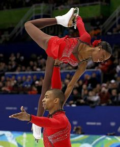 @inthylove: Yannick Bonheur and Vanessa James - the first black pair skaters to be in the Olympics.