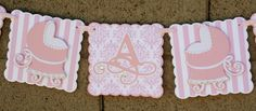 Pink It's a Girl  Banner Baby Shower New Baby Party by StudioDris