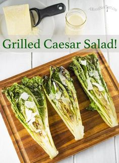 Grilled Caesar Salad! Yes that's right, we're grilling lettuce people! Grilling brings out a whole new dimension of flavor in romaine. Sophisticated but easy, this salad is delicious and a whole lot of fun. #Paleo #Primal #GrainFree #GlutenFree #NutFree #SoyFree #salad #GrilledCaesar #CaesarSalad