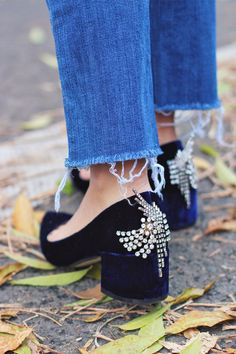 DIY Jeweled Heels