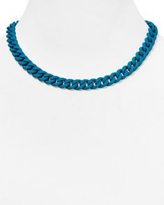 MARC BY MARC JACOBS Rubber Chain Necklace, 17.5"