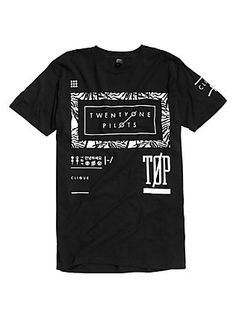 Twenty One Pilots Palm Frame T-Shirt, BLACK
