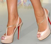 louboutin blush high heels