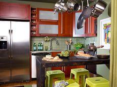 Small-Kitchen Design Tips   DIY Kitchen Design Ideas - Kitchen Cabinets, Islands, Backsplashes   DIY