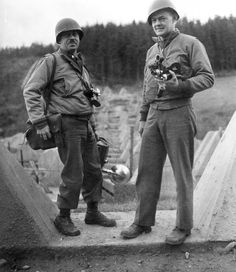 9 Nov 1944: Leo Moore and Jack Howell, 165th Signal Photo Company