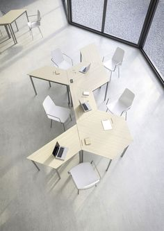 Meeting table + work space that is able to be altered to suit your needs at the time! Office Table, Office Workspace, Office Decor, Classroom Furniture, Office Furniture, Furniture Design, Furniture Stores, Furniture Projects, Best Office