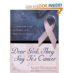 This is a wonderful book by a friend of mine that will help anyone through the cancer journey of prayer, journaling, fear, etc.