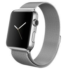 Apple watch band, Decouart Black Milanese loop Stainless Steel Bracelet for 42mm 38mm