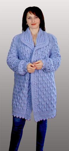 Knit Cardigan Pattern, Sweater Knitting Patterns, Knit Patterns, Clothing Patterns, Baby Knitting, Crochet Shaw, Knit Crochet, Angora Sweater, Crochet For Beginners