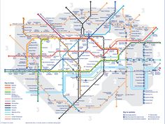 mapa metro Londres con anotacionds de lo que se tarda de una estación a otra.
