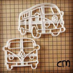 VW Camper Van Inspired Cookie Cutter Biscuit cutter by Volkswagen Type 3, Volkswagen Transporter, Vw T1, Volkswagen Beetles, Volkswagen Golf, Hippie Camper, Vw Camper, Combi Wv, New Luxury Cars