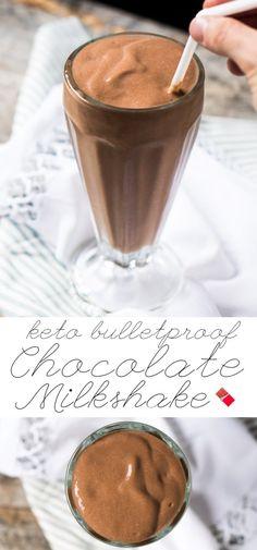 Paleo, Dairy Free & Keto Bulletproof Chocolate Milkshake