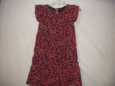 Baby Gap Toddler Size 4 Years Red Coral Purple Polka Dot Ruffle Trim Girls Dress #BabyGap #Dress #DressyEverydayHolidayWedding