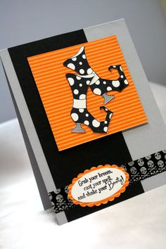 Witch Boots Girlfriend handmade card - Stampin' Up - Shake Your Booty