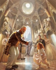 The old king held his hand out to the last child born since the curse. Arabella squealed and danced over to him. Her mother and father, crown prince Daelin and his wife Renee smiled at their daughter. Arabella's aunt and uncle, princess Lillianna and count Damien laughed gaily.