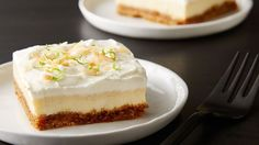 Delicious and tangy homemade key lime bars with a coconut whipped cream frosting. Cool and refreshing for a hot day!
