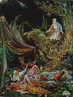 Midnight Repose Iran Politics Club: Mahmoud Farshchian Online Gallery Persian Miniature Paintings - Ahreeman X Fantasy Art Women, Art Painting, Persian Art Painting, Miniature Art, Literature Art, Painting, Miniature Painting, Muse Art, Realistic Paintings