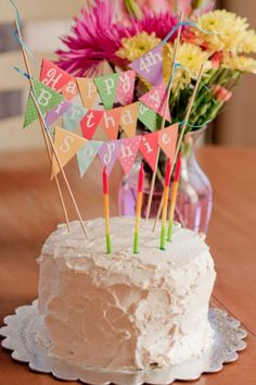 How to make a cake banner | Peanut Blossom
