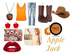 """""""Apple Jack Closet Cosplay"""" by thecrystalheart on Polyvore featuring Tome, American Eagle Outfitters, Ariat, Emi Jewellery, Hershesons and FACE Stockholm"""