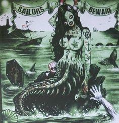 Sailors Beware, Zombie Mermaid by Marcus Jones (Screaming Demons)