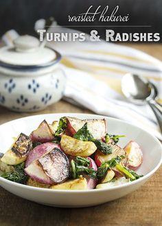 roasted hakurei turnips and radishes roasted turnips and radishes ...