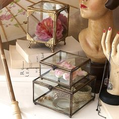 glass display boxes