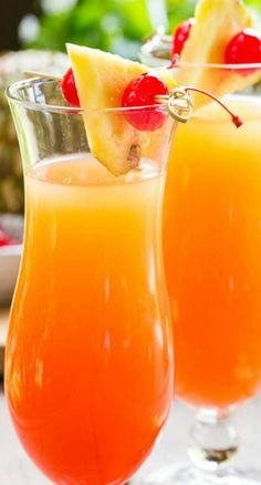 Pineapple Upside Down Cocktail - don't try this at home!!  lol