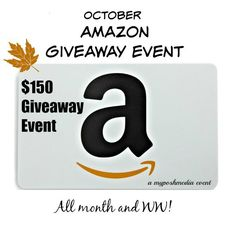 October $150 Amazon Event 2016 We're giving away $150 to AMAZON!   The co-hosts and sponsors of this event are: MyPoshMedia.com | Poshonabudget.com |Miki's Hope | TheSugarFreeDiva | DinedandDashed | Mel from FreebiesCodesCouponsAndDeals| PlusSizePosh| Becky Hanes | TheChocoholicsDiary What would you do with $150 to Amazon? Open anywhere that you can buy items from Amazon.com! …