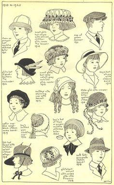 """Acconciature e copricapi Bambini XX sec. century Scan From """"The Mode in Hats and Headdresses"""" by R. Historical Costume, Historical Clothing, Historical Hairstyles, Vintage Outfits, Vintage Fashion, Evolution Of Fashion, Costume Hats, Edwardian Era, Elizabethan Era"""