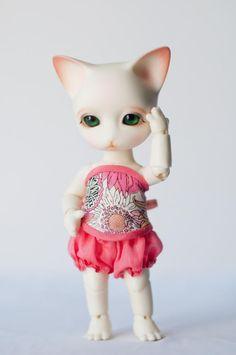 #BJD #doll #cat #Pipos #Ringo #corset #LenivkaShop