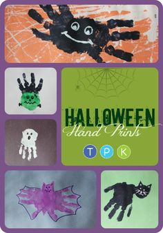for Toddlers, Preschoolers, & Kinders With Halloween right around the corner, here are some fun Halloween handprint ideas to do with your kids. Below a