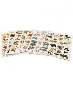 Stickers sorterade djur 1290/fp (128kr+moms)