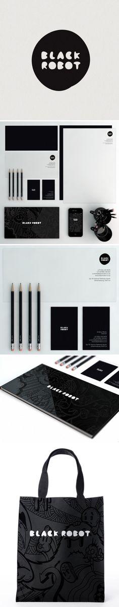 Black Robot design inspiration #identity #packaging #branding PD