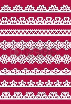 Conjunto de patrones de encaje diferentes. EPS8 Foto de archivo - 18737586