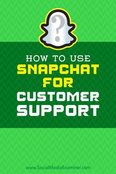 Snapchat��s text, video, and phone chat features allow you to support customers in the format they prefer.