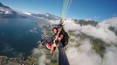 tandem flight over the como lake
