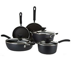 Color Glide 8-pc. Nonstick Aluminum Cookware Set by Chef Tony