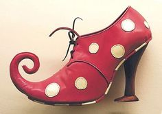 red curl toe white polka dot lace up shoes