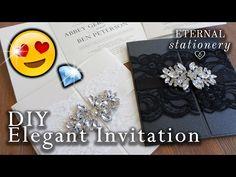 How to make an elegant gatefold wedding invitation | DIY invitations - YouTube