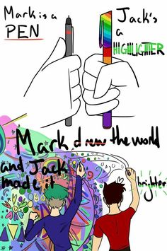 Dude are you kidding? Mark can't draw